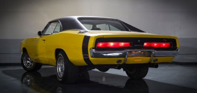 Dodge Charger R/T 1969 rear left view
