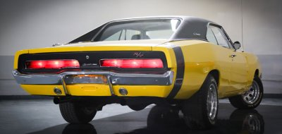 Dodge Charger R/T 1969 rear right view