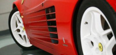 Ferrari F512TR Testarossa 1993 side closeup view