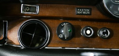 Mercedes Benz 280SEL 1972 light switch