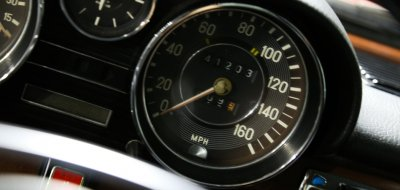 Mercedes Benz 280SEL 1972 speedometer