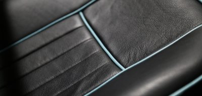 MG B 1963 seat closeup