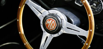 MG C 1969 steering wheel