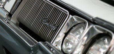 Oldsmobile Cutlass Supreme 1970 front closeup view - headlight
