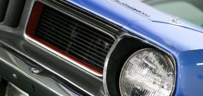 Plymouth Barracuda 1973 front closeup view