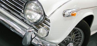 Triumph TR4 left headlight