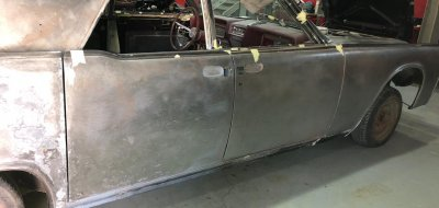 Lincoln Continental 1961 - restoration process