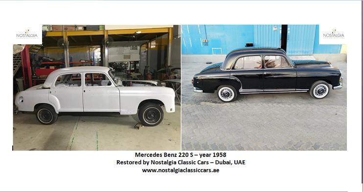 Restoration of Mercedes Benz 220 - 1958